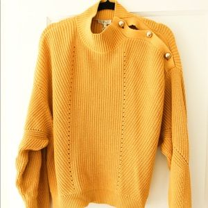 NWT Joie Mustard Yellow Sweater